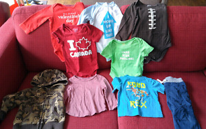 12 mos clothing and hangers