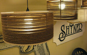 REALLY COOL CORRUGATED CARDBOARD & PLYWOOD DRUM LIGHT