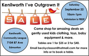 Kenilworth Fall I've Outgrown It Sale  - Sept 22