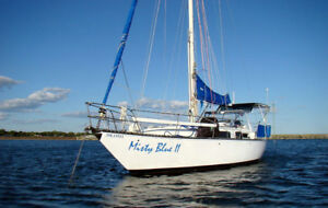 34' blue water cruiser and liveaboard sailboat for sale