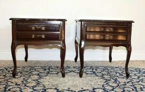 Pair of solid wood side tables / end tables / nightstands
