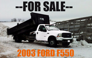 2003 FORD F-550 PICKUP TRUCK - CONTRACTOR SPECIAL