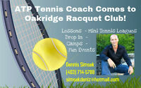 ATP Tennis Pro Giving Tennis Lessons In Calgary Now