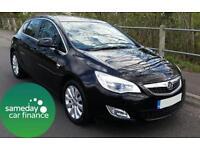 £141.39 PER MONTH BLACK 2011 VAUXHALL ASTRA 2.0 CDTI ELITE 5 DOOR DIESEL MANUAL