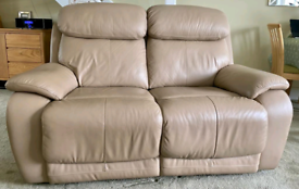 Two Seater Sofa. All Leather Electric Recliner