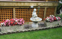 Cement Outdoor Planters - Perfect for Porch or Patio