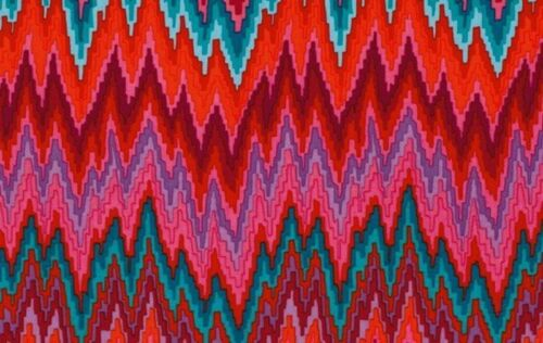 Rowan Kaffe Fassett Bargello Flame Stripe PWGP134 Red Cotton Fabric By the Yard