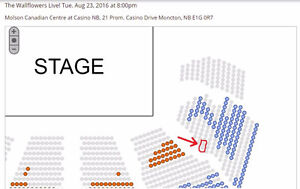 Two Premium Wallflowers Tickets - near stage, $175 value