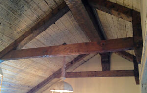 BEAMS, TIMBERS, ARCHES, CUSTOM SAWMILL CUTTING