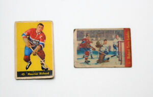 "Maurice ""The Rocket"" Richard vintage hockey cards"