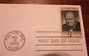1965 Sir Winston Churchill in Memoriam 5 Cent First Day Cover Kitchener / Waterloo Kitchener Area image 4