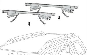 Thule Crossroad 450 rack support toit, barre de toit, fixations