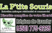 La P'tite Souris, Entretien ménager résidentiel et commercial