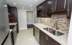 OVER 1200 SQ FT! Renovated 2 Bed 2 Bath Condo With Two Parking!
