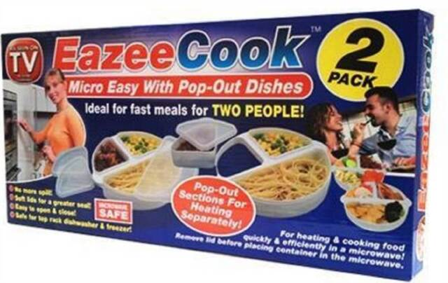EAZEE COOK EAZEE COOK MICROWAVE DISHES POP OUT MIRCROWAVABLE MEAL DISHES 2 PACK