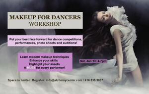 Makeup for Dancers and Performers - March 17: 4pm-7pm
