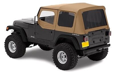 (1988-1995 JEEP WRANGLER SOFT TOP + UPPER SKINS & TINTED REAR WINDOWS SPICE TAN)