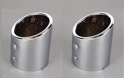 BMW Neu Original 5 E61 E60 7 F01 Auspuff End Rohr Verkleidung Chrom Set von Zwei