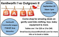 Kenilworth Fall 'I've Outgrown It Sale'