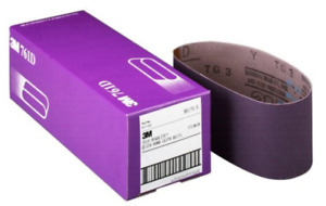 3M 761D 4''x24'' p100 grit purple cloth sanding belts (5 belts)