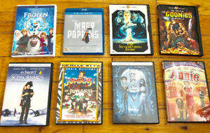 Frozen, Mary Poppins, The Neverending Story, Goonies ++ DVDs