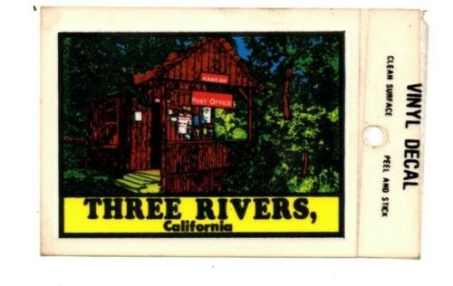 Lot of 12 Three Rivers, California Souvenir Decals Stickers - New - Free S&H