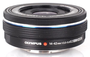 Olympus 14-42mm EZ lens in box - Black