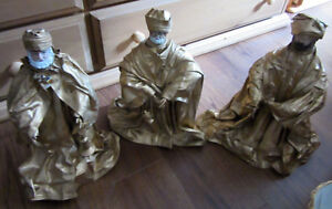 3 gold colored Christmas wise men for sale  $10.00