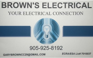 Brown's Electrical! Your electrical connection!