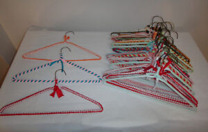 NEW  -  COVERED  CLOTHES  HANGERS