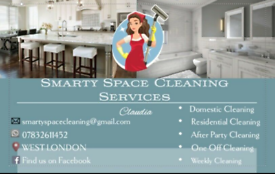 CLEANING Domestic Weekly One-off, Central London, WEST London