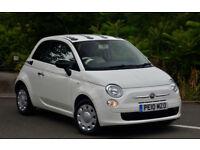 Fiat 500 1.2 ( s/s ) POP White 2010 LOW MILEAGE