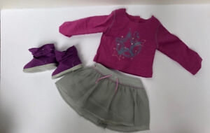 American Girl shimmer doodle outfit