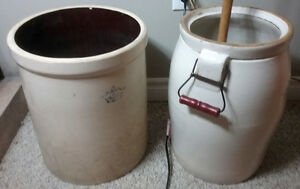 Butter Churn and 6 Gallon Crock.