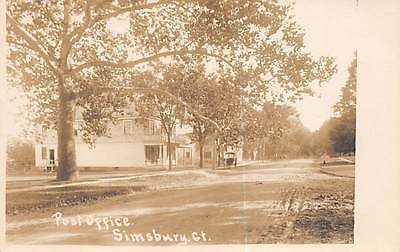 Simsbury  Ct   Post Office   Street View  Foote Real Photo Pc   C  1910 20