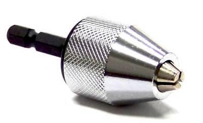 14 Hex Shank Keyless Drill Chuck Quick Change Bit Driver Converter Adaptor