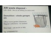 AW LEEDS WASTE FOR CLEAR YOUR GARAGES SHEDS HOME GARDEN RUBBISH CLEARANCES