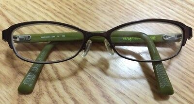 "NIKE Eyeglasses Frame 8001/241 50 [] 16 135 ""The Eyes Lead The Body"" Brown/Green"