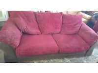 Sofa DFS Velvet Suede Large Two Seater in good condition can deliver free Manchester only