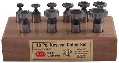 10 Pcs. Keo American Standard Staggered Teeth Woodruff Keyseat Cutters Set