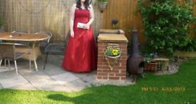 Prom dress with lace back, size 16/18 in excellent condition, worn only once