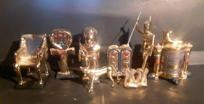 Tutankhamun Gold Treasures/Franklin Mint lot Vintage 1989