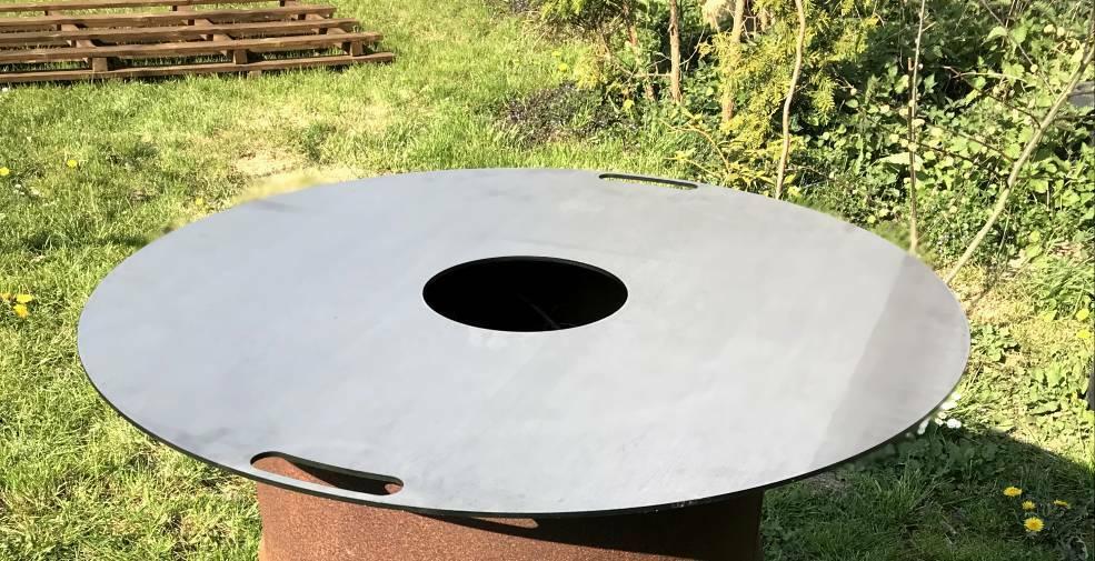 Grillplatte Feuerplatte für Stahltonne Stahlfaß Feuertonne  Ø 80 cm / 20cm