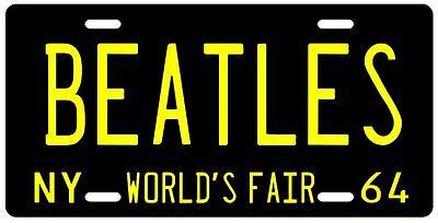The Beatles 1964 New York metal License plate