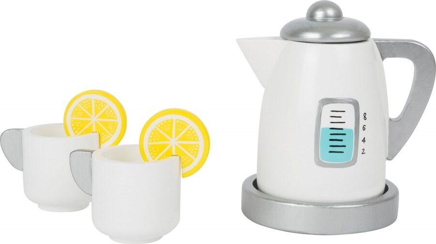 Tee-Set mit Wasserkocher Kinderküche, aus Holz