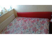 Bed with free red Headboard