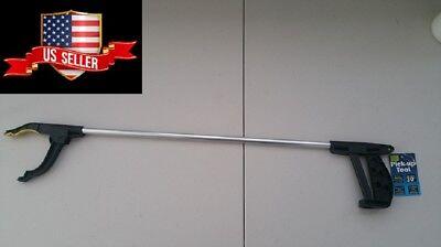 Trash Reacher Pick Up Tool Grip Easy Reach Grabber Stick Reaching Magnetic Tip