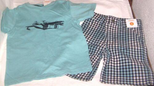 NWT Boys 5 GYMBOREE EAST COAST HARBOR 2 Pc Set Outfit Shorts & Short Sleeve Top