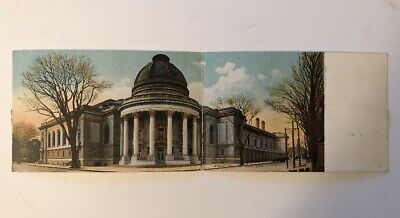 Woolsey Hall New Haven Conn CT bi-fold litho 1909 Rotograph Co