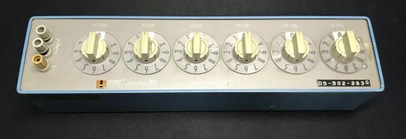 ESI / Tegam / IET Dekabox DB62 - 6 Decade Resistor Box 1 Ohm Steps to 1 Megohm